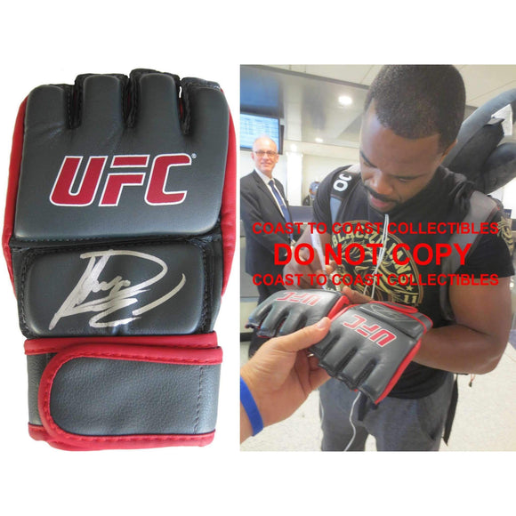 Rashad Evans, Mma, Signed, Autogrpahed, UFC Glove, a COA with the Proof Photo of Rashad Signing Will Be Included..