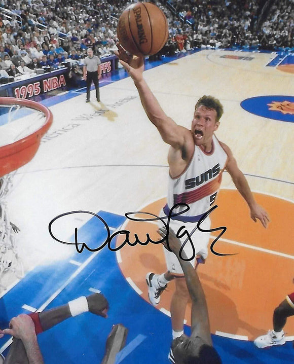 Dan Majerle Phoenix Suns signed, autographed Basketball 8x10 photo, proof COA.