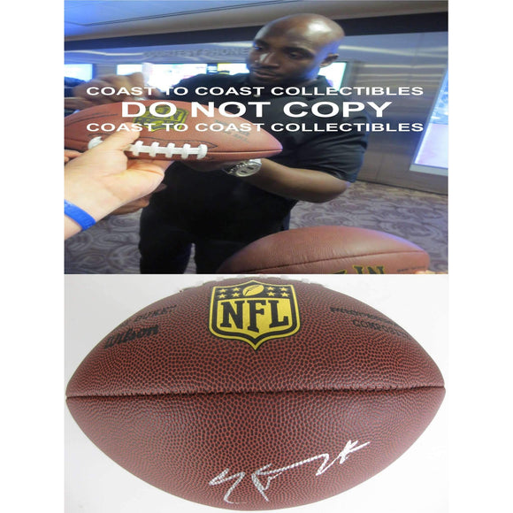 Elvis Dumervil Baltimore Ravens, Denver Broncos, Signed, Autographed, NFL Duke Football, a COA with the Proof Photo of Elvis Signing Will Be Included