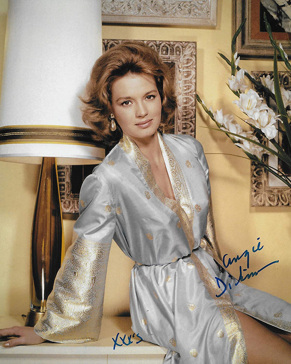 Angie Dickinson actress signed 8x10 photo exact proof COA. STAR