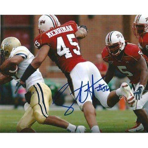 Shawne Merriman, San Diego Chargers, Maryland Terrapins, Terps, Buffalo Bills, Signed, Autographed, 8x10 Photo, Coa, Rare Hard Photo to Find