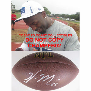 William Moore, Atlanta Falcons, Missouri, Signed, Autographed, NFL Football, a Coa with the Proof Photo of William Signing Will Be Included with the Football