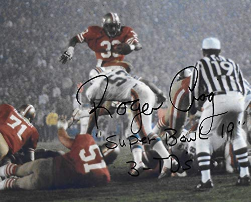 Roger Craig San Francisco 49ers autographed football 8x10 Photo proof COA