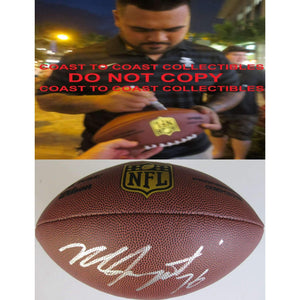 Mike Iupati, San Francisco 49ers, Arizona Cardinals, Signed, Autographed, NFL Duke Football, a COA with the Proof Photo of Mike Signing Will Be Included