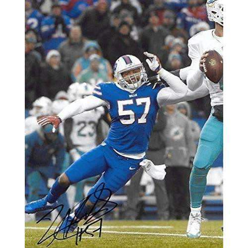 Lorenzo Alexander, Buffalo Bills, Signed, Autographed, Football 8X10 Photo, a Coa with the Proof Photo of Lorenzo Signing Will Be Included