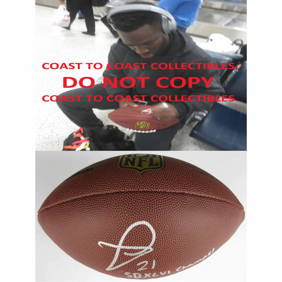 Prince Amukamara, New York Giants Jacksonville Jaguars,Nebraska, Signed, Autographed, NFL DukeFootball, a COA with the Proof Photo of Prince Signing Will Be Included
