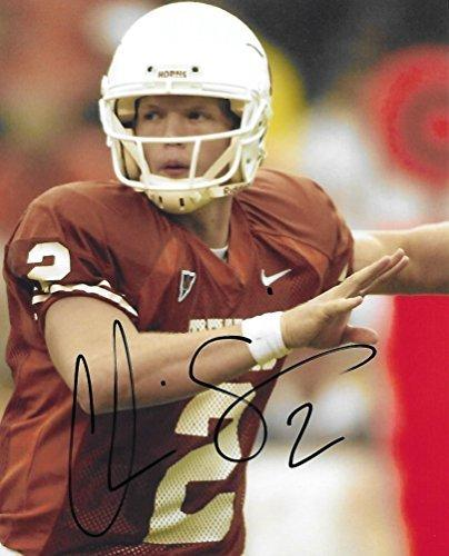 Chris Simms, Texas Longhorns, Signed, Autographed, 8x10 Photo, A COA with the proof photo will be included