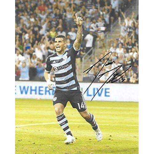 Dom Dwyer, Sporting Kansas City, Signed, Autographed, 8x10 Photo, a Coa with the Proof Photo of Dom Signing Will Be Included,,
