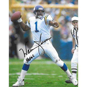 Warren Moon, Minnesota Vikings, Hall of Fame, Signed, Autographed, 8X10 Photo, a COA with the Proof Photo of Warren Signing Will Be Included