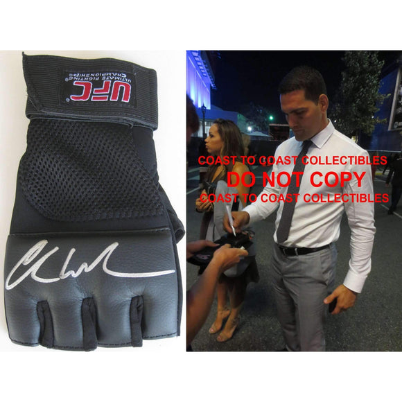 Chris Weidman, MMA, Signed, Autogrpahed, UFC Glove, a COA with the Proof Photo of Chris Signing Will Be Included..