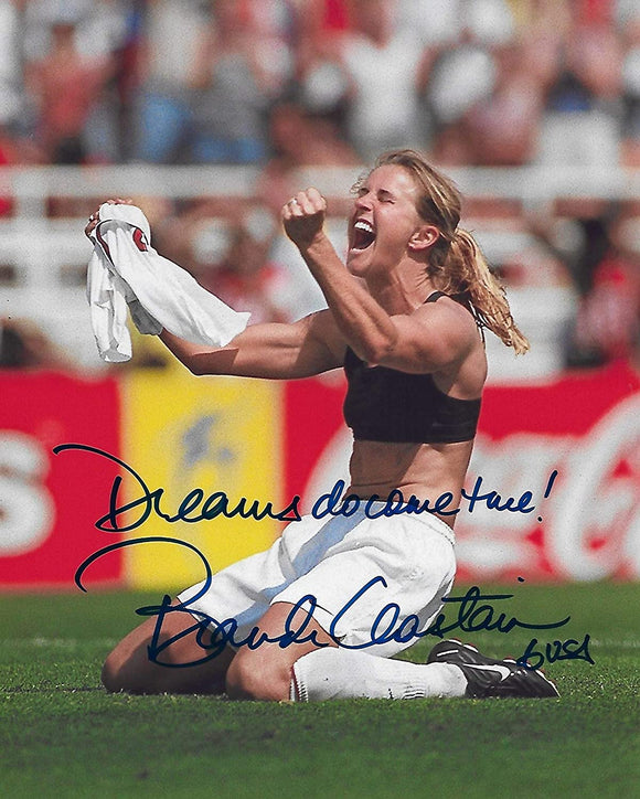 Brandi Chastain USA womens team autographed soccer 8x10 photo proof COA