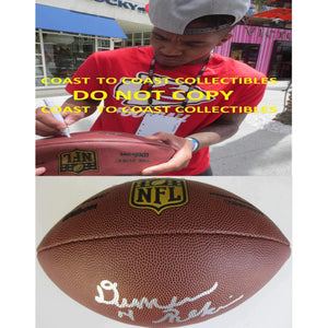 Demarcus Robinson, Kansas City Chiefs, Florida Gators, Signed, Autographed, NFL Duke Football, a COA with the Proof Photo of Demarcus Signing Will Be Included with the Ball