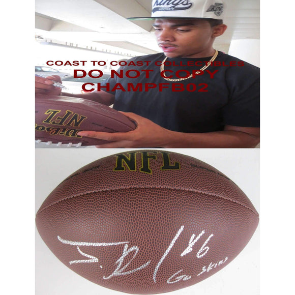 Jordan Reed, Washington Redskins, Florida Gators, Signed, Autographed, NFL Football, a COA with the Proof Photo of Jordan Signing Will Be Included with the Football-