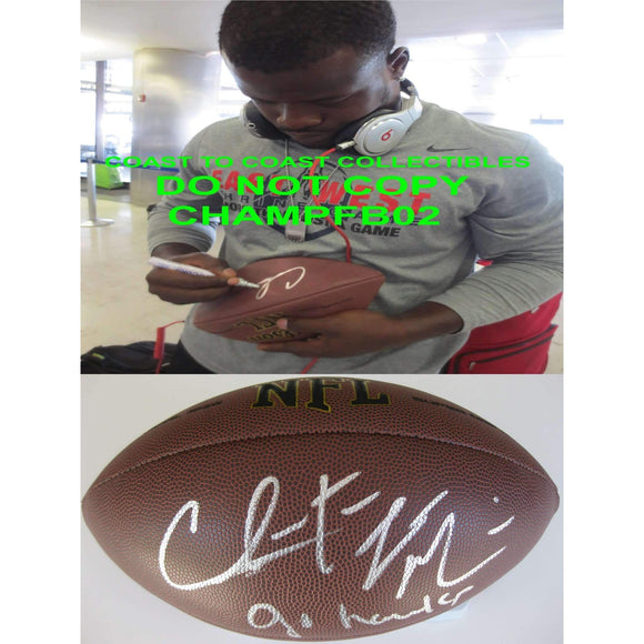 Christine Michael, Seattle Seahawks, Texas A&M, Signed, Autographed, NFL Football, a COA with the Proof Photo of Christine Signing Will Be Included with the Ball