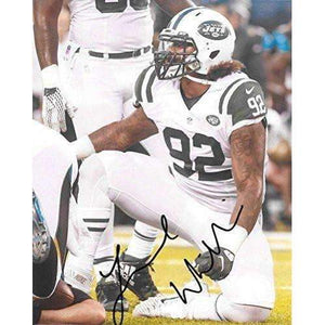 Leonard Williams New York Jets, Signed, Autographed, 8X10 Photo, a COA with the Proof Photo of Leonard Signing Will Be Included