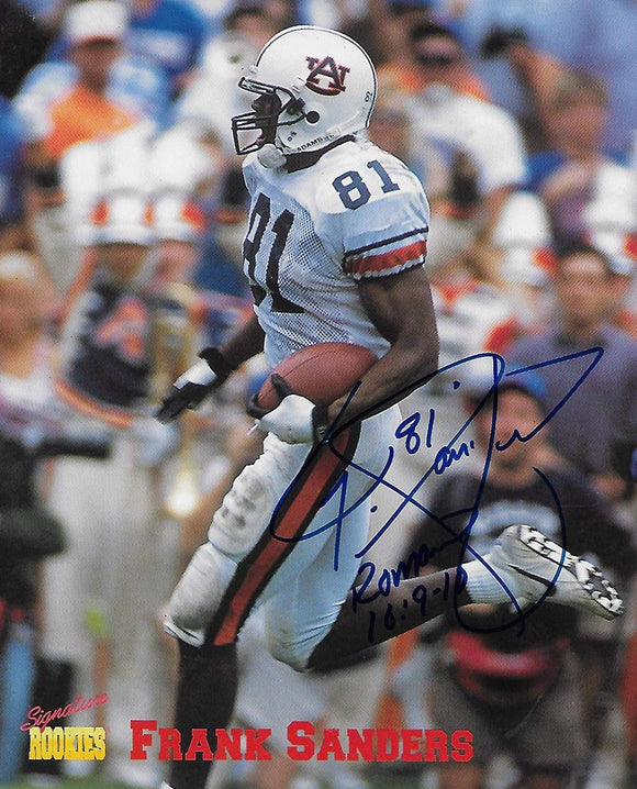 Frank Sanders Auburn Tigers signed autographed, 8x10 Photo, COA will be included