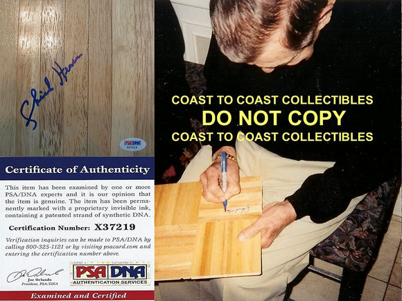 Chick Hearn Los Angeles Lakers signed autographed basketball floorboard proof LA PSA DNA