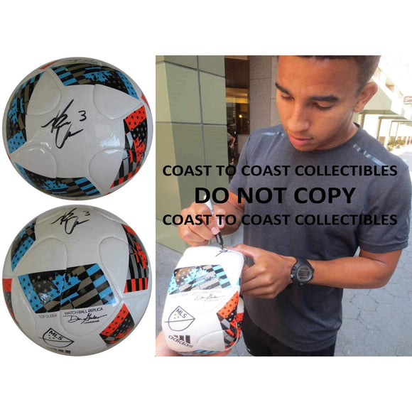 Brandon Vincent Chicago Fire, Stanford Cardinals signed, autographed MLS soccer ball - Proof and COA