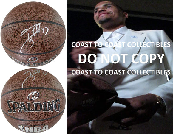 Tobias Harris Philadelphia 76ers signed autographed NBA basketball COA proof