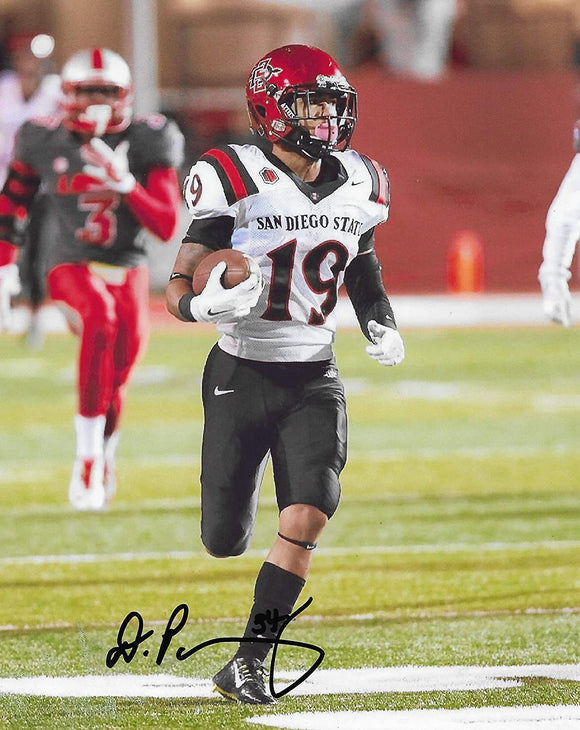 Donnel Pumphrey signed San Diego State Aztecs football 8x10 photo proof COA
