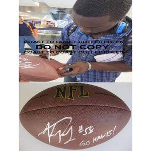 Kevin Pierre Louis, Seattle Seahawks, Boston College, Signed, Autographed, NFL Football, a COA with the Proof Photo of Kevin Signing Will Be Included with the Football