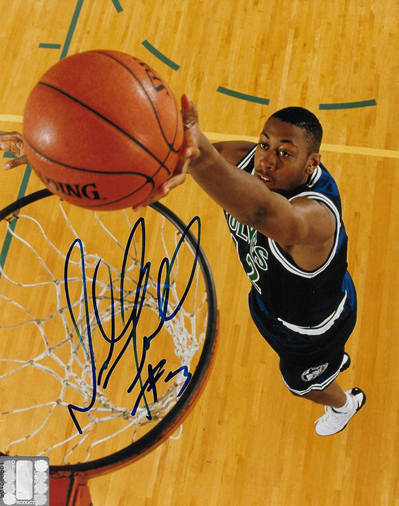 Donyell Marshall signed Dallas Mavericks basketball 8x10 photo COA