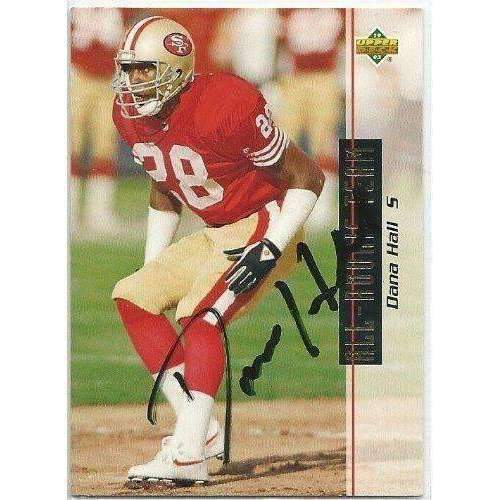 1993, Dana Hall, San Francisco 49ers, Signed, Autographed, Upper Deck Football Card, Card # 48,