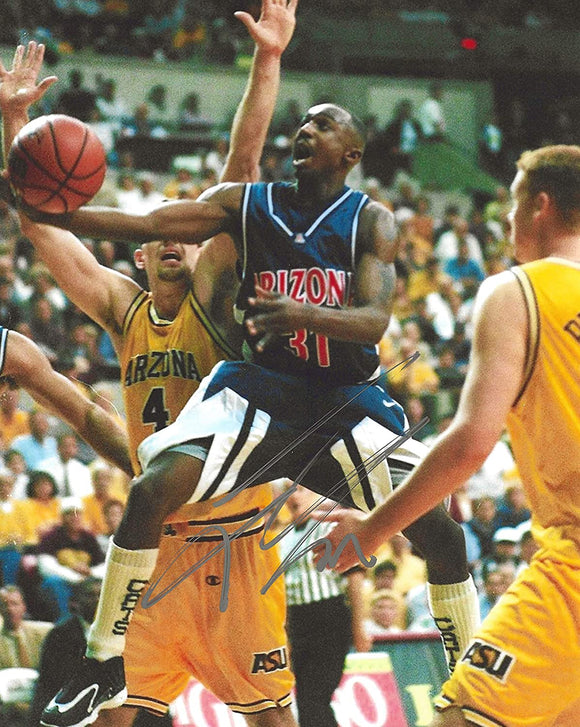 Jason Terry Arizona Wildcats autographed basketball 8x10 photo proof COA.
