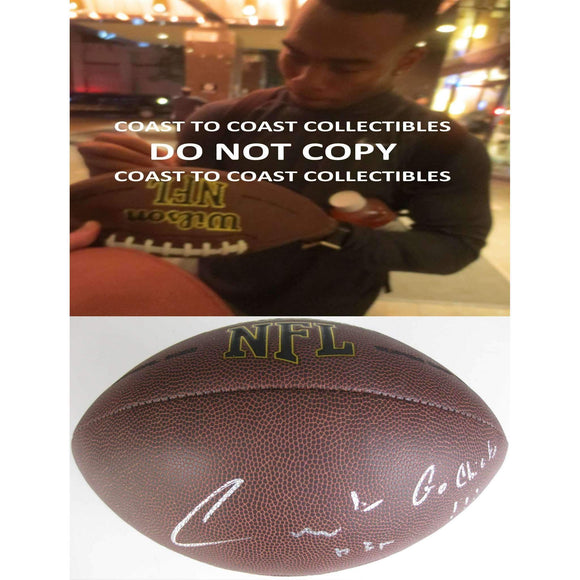 Charcandrick West, Kansas City Chiefs, Kc, Signed, Autographed, NFL Football,..,