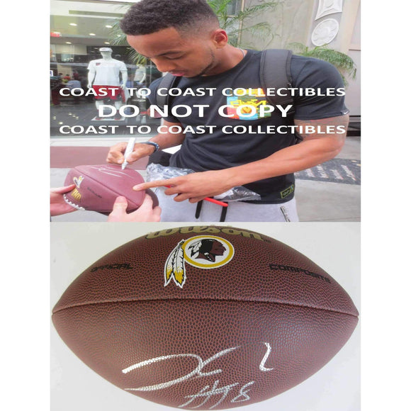 Josh Doctson, Washington Redskins, Signed, Autographed, NFL Logo Football, a COA with the Proof Photo of Josh Signing Will Be Included