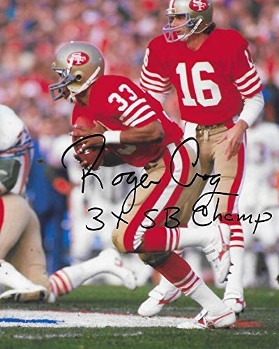 Roger Craig San Francisco 49ers autographed football 8x10 Photo proof COA.
