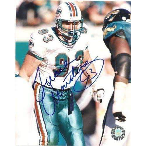 Trace Armstrong, Miami Dolphins, Arizona State, Asu, Signed, Autographed, 8x10 Photo, Coa, Rare Hard Photo to Find