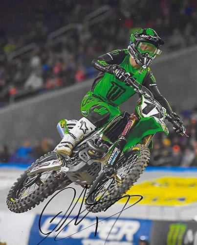 Joey Savatgy supercross motocross signed autographed Monster 8x10 photo proof COA.