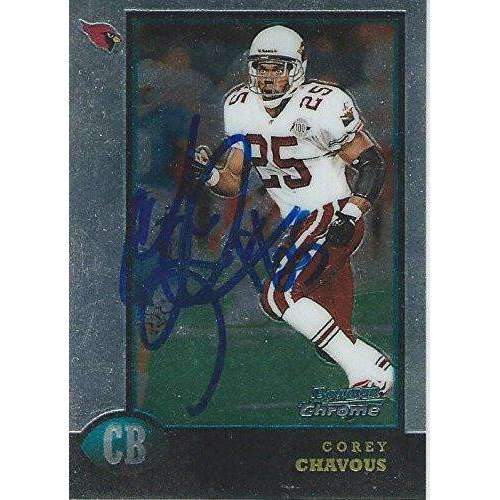 1998 Corey Chavous, Arizona Cardinals, Signed, Autographed, Bowman Chrome Football Card, Card # 188,
