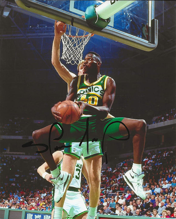 Shawn Kemp Seattle SuperSonics signed autographed basketball 8x10 photo proof COA