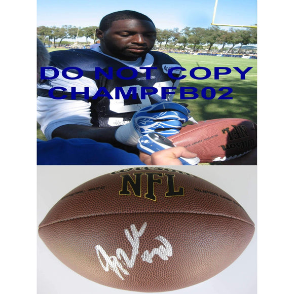 Jay Ratliff, Dallas Cowboys, Auburn Tigers, Signed, Autographed, NFL Football , a COA with the Proof Photo of Jay Signing the Football Will Be Ilcluded