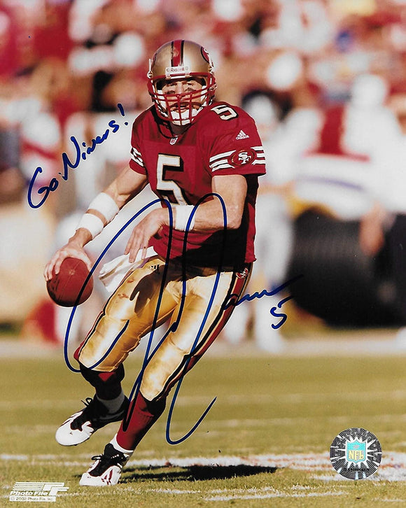 Jeff Garcia San Francisco 49ers signed autographed football 8x10 Photo proof COA.