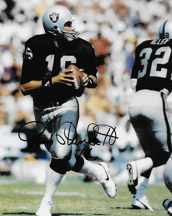 Jim Plunkett Oakland Raiders signed autographed, 8x10 Photo. Exact proof COA