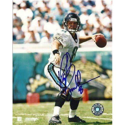 MARK BRUNELL,JACKSONVILLE JAGUARS,WASHINGTON HUSKIES,SIGNED,AUTOGRAPHED,8X10 PHOTO,COA, RARE HARD PHOTO TO FIND
