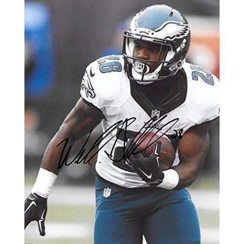 Wendall Smallwood, Philadelphia Eagles, West Virginia, Signed, Autographed, 8X10 Photo, a COA with the Proof Photo of Wendall Signing Will Be Included,,