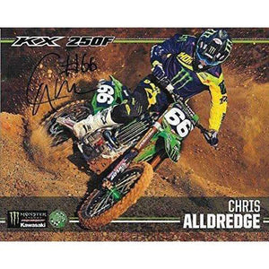 Chris Alldredge, Supercross, Motocross, Signed, Autographed, 8X10 Photo,