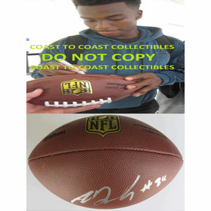 Amara Darboh Seattle Seahawks, Michigan Wolverines signed autographed Duke football - COA with proof