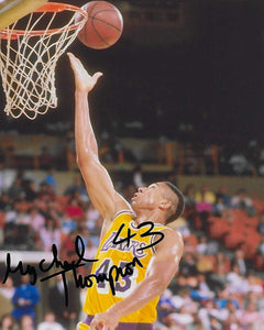 Mychal Thompson Los Angeles Lakers signed, autographed, 8x10 Photo.proof COA