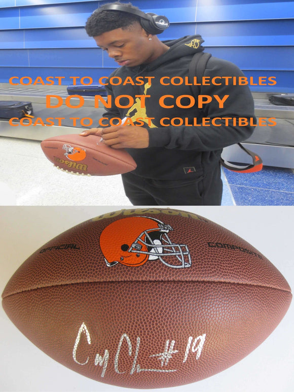 Corey Coleman, Cleveland Browns, Signed, Autographed, NFL Logo Football, a COA with the Proof Photo of Corey Signing Will Be Included