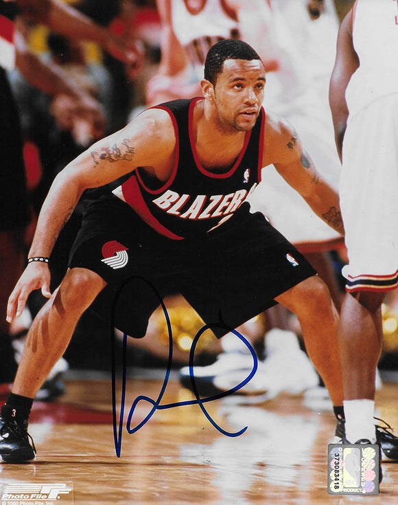 Damon Stoudamire signed Portland Trail Blazers basketball 8x10 photo COA