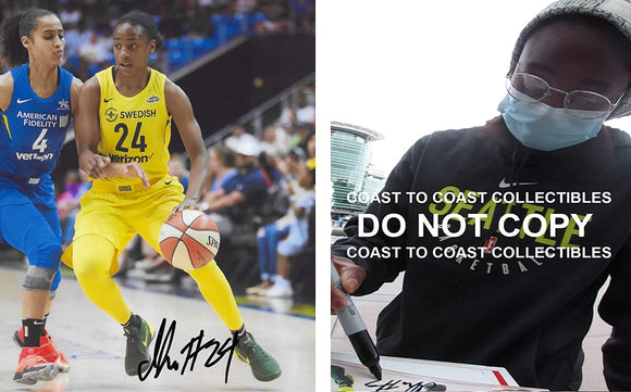 Jewell Loyd Seattle Storm signed basketball 8x10 photo COA proof