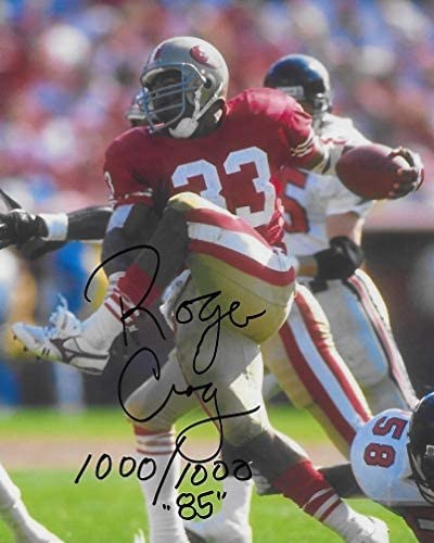 Roger Craig San Francisco 49ers signed autographed football 8x10 Photo proof COA