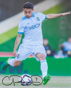 Cristian Roldan Seattle Sounders signed autographed soccer 8x10 photo. proof COA