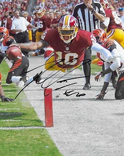 Robert Griffin III RG3 Washington signed 8x10 football photo proof COA