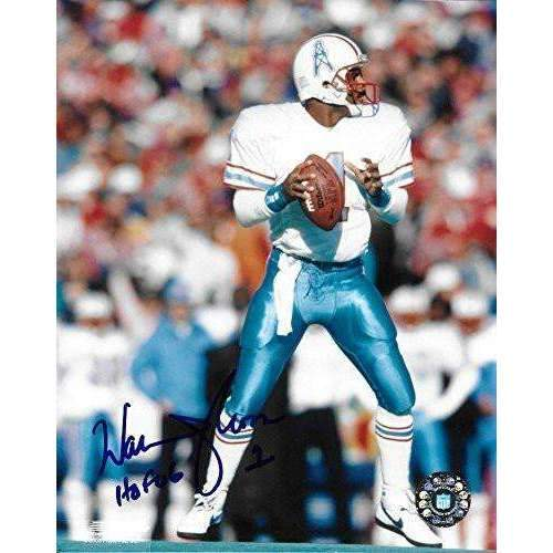 Warren Moon, Houston Oilers, Hall of Fame, Signed, Autographed, 8X10 Photo, a COA with the Proof Photo of Warren Signing Will Be Included--